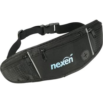 Running Waist Pack - The super compact, lightweight running pack that hugs securely to your body and makes it easy to  carry what you need while you're out running or walking. Whether you are on a long run or just a trip to the gym, the pack carries the things you need, like your cell phone, ID, and keys without being tied down by a bag or backpack. Plus, it gives you easy access to your necessities while you're on the go. The adjustable sizing and integrated audio port of the running pack ensure that you're ready to go!