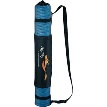 Yoga Mat - Ideal for yoga practice and stretching, this yoga mat provides an excellent non-slip surface to provide grip and stability during routines. Easily rolls up for storage in the included carrying bag.