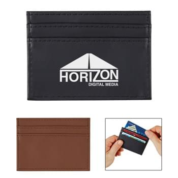 RFID Data Blocking Card Holder - CLOSEOUT! Please call to confirm inventory available prior to placing your order!<br />Made Of Vinyl With RFID Blocking Material Sewn Into The Lining | Includes 4 Card Slots And 1 Cash Pocket  | Place Your Credit Cards In Holder To Prevent Cyber Hackers From Stealing Your Identity | Prevents Data Transfer Between The Wallet And Reader | Works With Any Contactless Chip Card. Cards That Are Swiped Do Not Send RFID Signals And Will Not Be Protected By An RFID Blocker