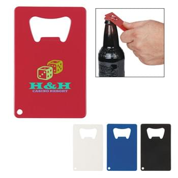 Credit Card Shaped Bottle Opener - Lightweight Metal Bottle Opener | Flat Shape Perfect For Pockets