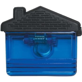 House Shape Clip - Top Rubber Grip | Spring-Loaded Hinge | Magnet On Back Side | Large Imprint Area