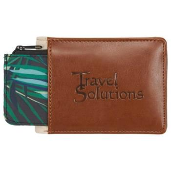 Mea Huna Wallet - CLOSEOUT! Please call to confirm inventory available prior to placing your order!<br />The Mea Huna Collection was inspired by the Hawaiian heritage of secrecy, preservation and hospitality. Mea Huna • inspired by legend. Features: RFID protection, four card pockets, cash pocket, a hidden back panel for extra cash, hidden sleeve for a house/ lockbox key, pocket for extra cards with easy access pull-tab and a separate anti-microbial charcoal pouch.