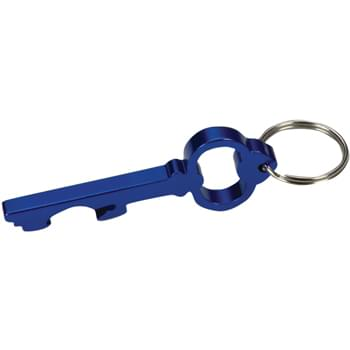 Key Shape Bottle Opener Key Ring - --