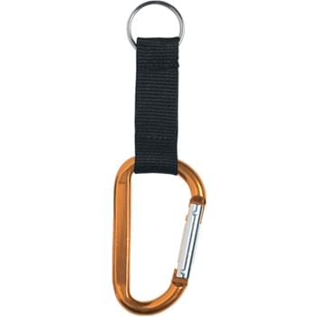 "8mm Carabiner - With 2 ½"" Strap And Split Ring"
