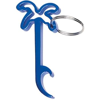 Palm Tree Bottle Opener Key Ring - --