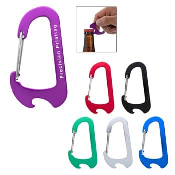 Everest Carabiner Bottle Opener - Flat Shape Perfect For Pockets | Attaches To Backpack, Belt Loop, Etc.