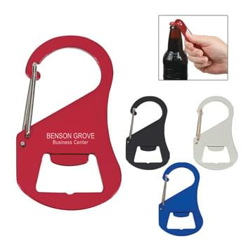 Carabiner Bottle Opener - Flat Shape Perfect For Pockets | Attaches To Backpack, Belt Loop, Etc.
