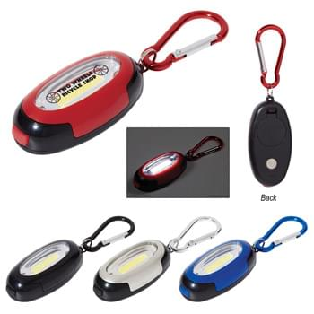Carabiner Magnet Light - Extra Bright White COB Light  | Three Light Settings - High, Low, Flashing | Push Button To Turn On And Change Settings | Carabiner Attachment | Magnet On Backside | Attaches To Backpack, Belt Loop, Etc. | Button Cell Batteries Included