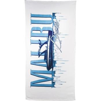 10.5lb./doz. Mid-Weight Beach Towel - 10.5 lb./doz. Twill hemmed terry velour beach towel.