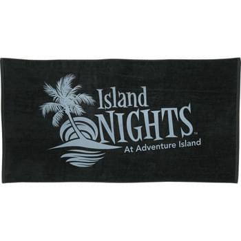 10.5 lb./doz. Colored Beach Towel - 10.5lb./doz. Twill hemmed terry velour beach towel.