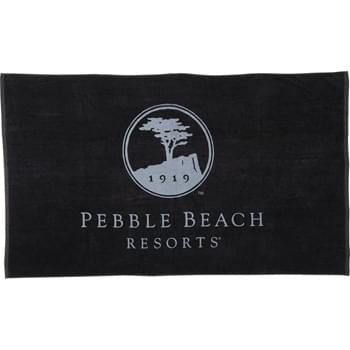 15 lb./doz. Colored Beach Towel - 15lb./doz. Twill hemmed terry velour beach towel.