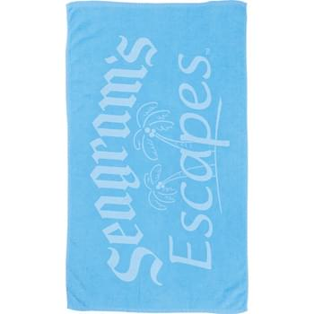 6.5lb./doz. Small Colored Beach Towel - 6.5lb./doz.,terry velour small colored beach towel.