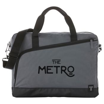 "Tranzip 15"" Computer Briefcase - Tranzip - navigate your way through the city with style. Top load briefcase with large decorating pocket and organization on front. Padded laptop and tablet sleeve."