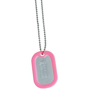 "Dog Tag - Great Conversation Piece | 28"" Ball Chain 