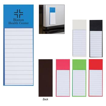 Magnetic Note Pad - Stick To Fridge Or Filing Cabinet | Magnet On Back Side | 30 Lined Pages