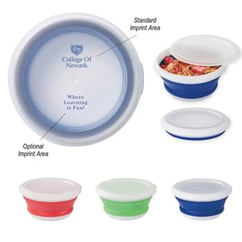 Collapsible Food Bowl - Collapsible Silicone Food Container | Collapses For Easy Storage | Meets FDA Requirements | BPA Free | Hand Wash Recommended