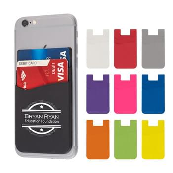 Dual Pocket Silicone Phone Wallet - Adheres To Back Of Your Phone With Strong Adhesive | Perfect For Carrying Identification, Room Keys, Cash Or Credit Cards | Silicone Material
