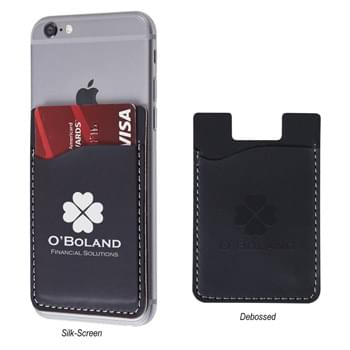 Executive Phone Wallet - Adheres To Back Of Your Phone With Strong Adhesive | Perfect For Carrying Identification, Room Keys, Cash Or Credit Cards | Polyurethane Material