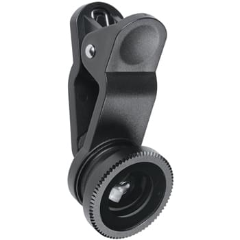 Fisheye Lens Set - Includes Two 180º Lenses (.5 and .67 Magnification), Macro Lens,  Clip And Velvet Pouch, All In A Protective Travel | Macro Lens Ships Attached to .67 Lens. Can Be Used Separately or Together.