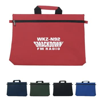 Document Bag - Made Of 600D Polyester | Padded Web Carrying Handle | Zippered Closure | Spot Clean/Air Dry