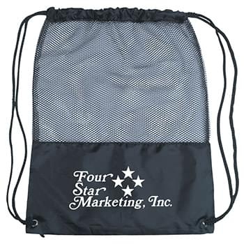 Mesh Sports Pack - Drawstring Closure | Mesh With 210D Polyester | Spot Clean/Air Dry