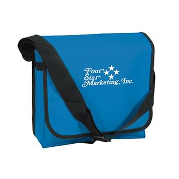 Messenger Bag - Made Of 600D Polyester With PVC Lining | Adjustable Shoulder Strap | Spot Clean/Air Dry