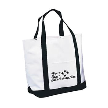 "Tote Bag - Made Of 600D Polyester With PVC Backing | Matching Bottom Gusset And 16"" Handles 