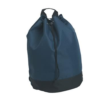 Drawstring Tote/Backpack - Made Of 600D Polyester | Backpack Has PVC Lining And Adjustable Drawstring Closure | Padded Adjustable Shoulder Straps On Rear Of Bag, Nylon Loop Handle On Top | Spot Clean/Air Dry