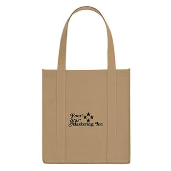 "Non-Woven Avenue Shopper Tote Bag - Made Of 80 Gram Non-Woven, Coated Water-Resistant Polypropylene | Recyclable | Reusable | Reinforced 21"" Handles 