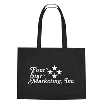 "Non-Woven Shopper Tote With Velcro® Closure - Made Of 80 Gram Non-Woven, Coated Water-Resistant Polypropylene | 30"" Handles 