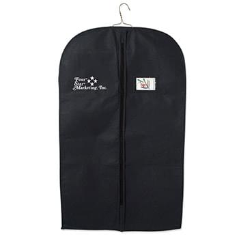 Non-Woven Garment Bag - Made Of 80 Gram Non-Woven, Coated Water-Resistant Polypropylene | Identification Window | Front Zipper | Lightweight And Very Durable | Spot Clean/Air Dry