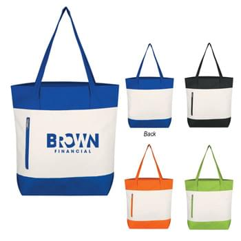 "Living Color Tote Bag - Made Of 600D Polyester | Front Zippered Pocket | 23"" Handles 