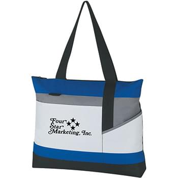 "Advantage Tote Bag - Made Of 600D Polyester | Outside Pocket | Top Zippered Closure | Pen Loop | 22"" Handles 
