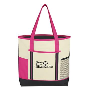 "Berkshire Tote Bag - Made Of 600D Polyester | Front Pocket | 24"" Handles 