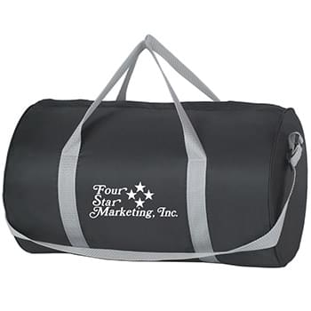 "Budget Duffel Bag - Made Of 210D Polyester | Top Zippered Compartment | Adjustable Shoulder Strap And 18"" Carrying Handles 