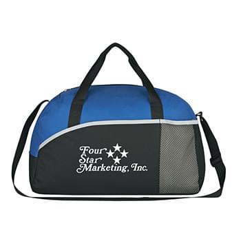Executive Suite Duffel Bag - Made Of 600D Polyester | Front Pocket And Side Mesh Pocket | Adjustable Shoulder Strap | Web Carrying Handles | Large Main Zippered Compartment | Spot Clean/Air Dry