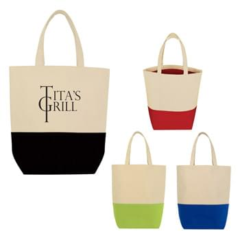 "Tote-And-Go Canvas Tote Bag - Made Of 10 Oz. Cotton Canvas | Inside Liner Matches Trim Color | 17"" Handles 