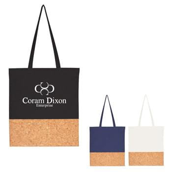 "Somerset Cork Tote Bag - Made Of Combo: 6 Oz. Cotton Canvas And Cork  |  26"" Handles   