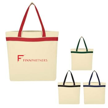 "Senado Canvas Tote Bag - Made Of 12 Oz. Cotton Canvas | 20"" Carrying Handles 