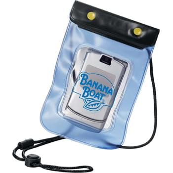 Waterproof Pouch - Keep valuables dry at the beach or pool. 100% waterproof. Adjustable lanyard.