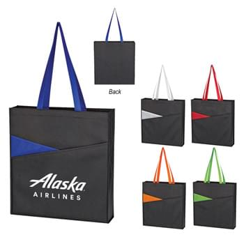 "Non-Woven Redirection Tote Bag - Made Of 80 Gram Non-Woven, Coated Water-Resistant Polypropylene | 2 Large Front Pocket | 3 ¼"" Gusset 