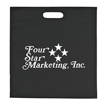 "Large Heat Sealed Non-Woven Exhibition Tote - Made Of 80 Gram Non-Woven, Coated Water-Resistant Polypropylene | Die Cut Handles | 2"" Bottom Gusset 