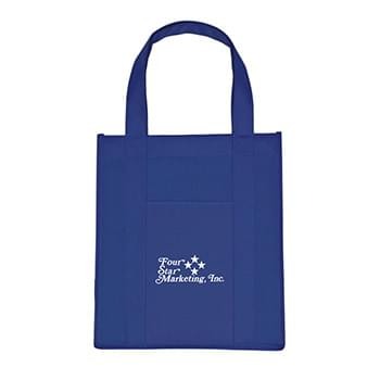 "Matte Laminated Non-Woven Shopper Tote Bag - Made Of 80 Gram Laminated Non-Woven, Coated Water-Resistant Polypropylene | Reinforced 20"" Handles 
