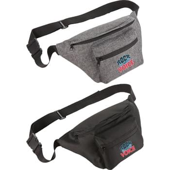 Lifestyle Waist Pack - Featuring a large open main compartment for ample storage of your everyday essentials. This can be worn around your waist or over your shoulder. Front zippered pocket with key fob. Adjustable waist band.