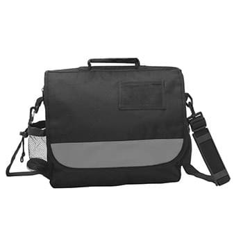 Business Messenger Bag - Made Of 600D Polyester With Adjustable/Detachable Shoulder Strap | ID Pocket | Compartments To Hold Notebook, Cell Phone, Calculator, PDA, Water Bottle, Etc. | Spot Clean/Air Dry