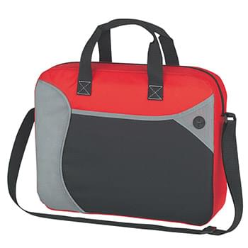 Wave Briefcase/Messenger Bag - Made Of Combo: 80 Gram Non-Woven, Coated Water-Resistant Polypropylene/600D Polyester | Spot Clean/Air Dry | Front Pocket With Pen/Calculator Compartments Inside | Built-In Slot For Ear Buds | Zippered Main Compartment | Adjustable Shoulder Strap And Web Carrying Handles