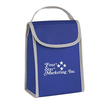 Non-Woven Folding Identification Lunch Bag - Made Of 80 Gram Non-Woven, Coated Water-Resistant Polypropylene | Front Top Pocket | Web Carrying Handle | ID Holder | Foil Laminated PE Foam Insulation | Spot Clean/Air Dry