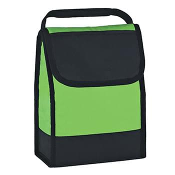 Folding Identification Lunch Bag - Made Of 210D Polyester | PEVA Lining | Insulated | Velcro® Closure | Front Top Pocket | ID Holder | Padded Web Carrying Handle | Spot Clean/Air Dry