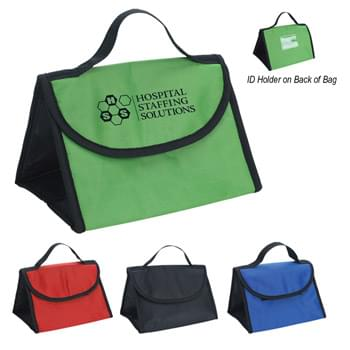 Triad Lunch Bag - Made Of 210D Polyester | Foil Laminated PE Foam Insulation | Web Carrying Handle | ID Holder | Hook And Loop Closure | Spot Clean/Air Dry
