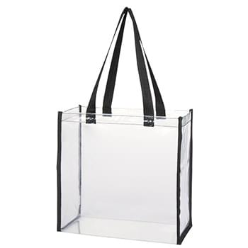 "Clear Tote Bag - Made Of PVC Material | 22"" Handles 